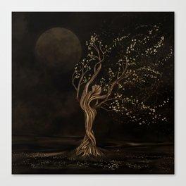 Tree Goddess - Moon Worship Canvas Print