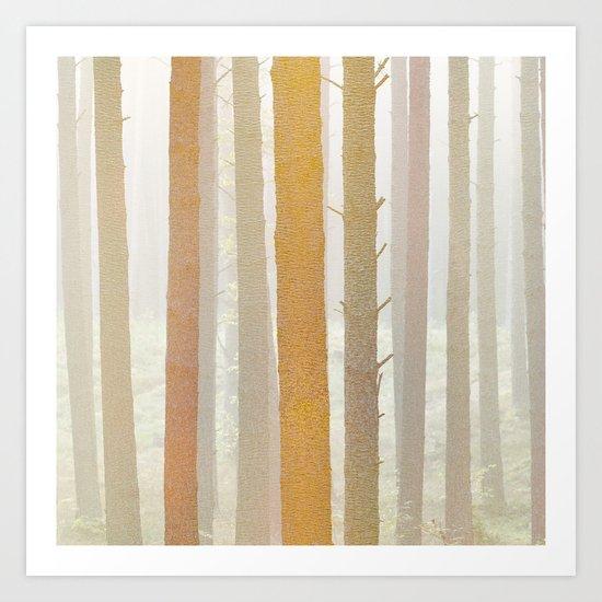 Golden Winter Forest 2 Art Print