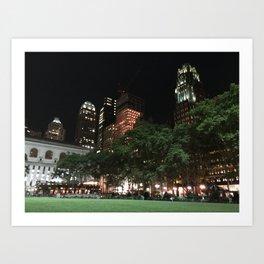 Bryant Park New York Art Print