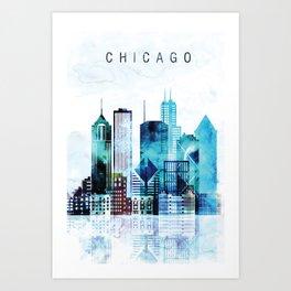 Chicago Illinois Cityscape Art Print