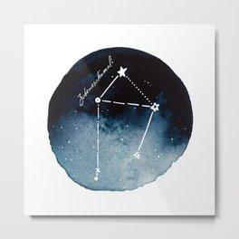Libra Zodiac Constellation Metal Print