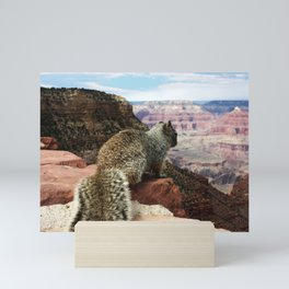 Squirrel Overlooking Grand Canyon Mini Art Print