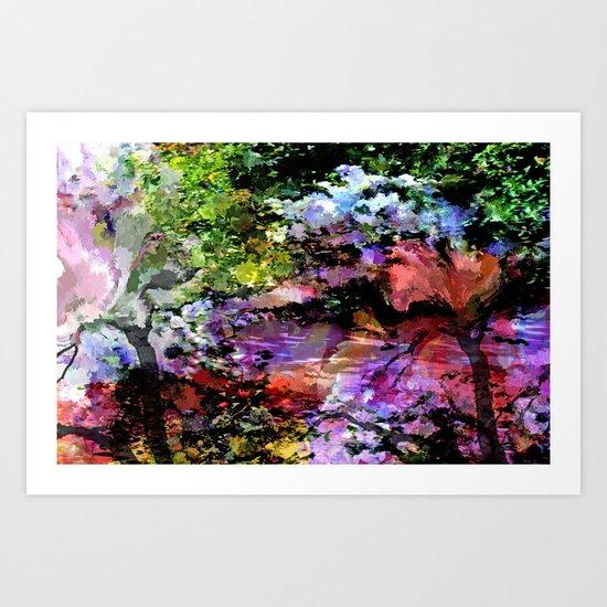 Monet's  Zen Garden Art Print