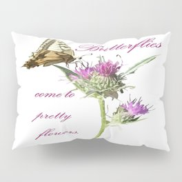 Butterflies Come To Pretty Flowers Korean Proverb Pillow Sham