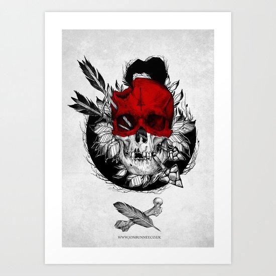 Arrow to the head Art Print