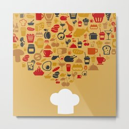 Cap of the cook Metal Print
