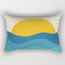 Sea Sunrise Rectangular Pillow