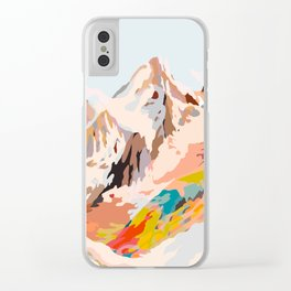 glass mountains Clear iPhone Case