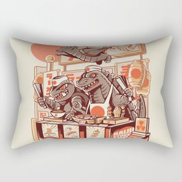 Kaiju street food Rectangular Pillow