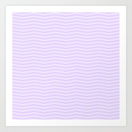 Chalky Pale Lilac Pastel Chevron Stripes Art Print