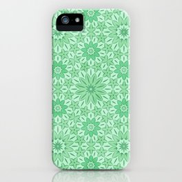 Rings of Flowers - Color: Mint Julep iPhone Case