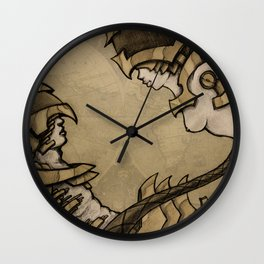 Steampunk encounter Wall Clock