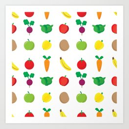 A Cute Concoction of Fruit and Vegetable. Vegan Heaven! Art Print
