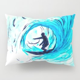 Solo - Surfing the big blue wave Pillow Sham