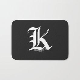 Letter K Bath Mat