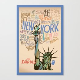 Fly Tardis Canvas Print