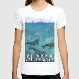 Alaska State Poster T-shirt