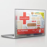 band Laptop & iPad Skins featuring Band Aid by Robin Curtiss