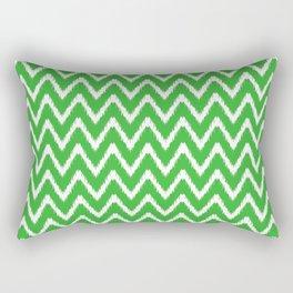Key Lime Southern Cottage Ikat Chevrons Rectangular Pillow