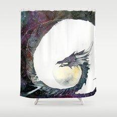 Cosmos Dragon Shower Curtain