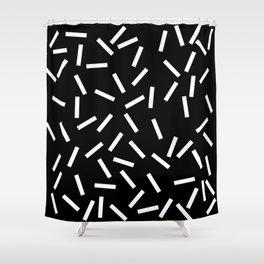 Sprinkles Black Shower Curtain
