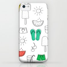 Summer outline iPhone 5c Slim Case