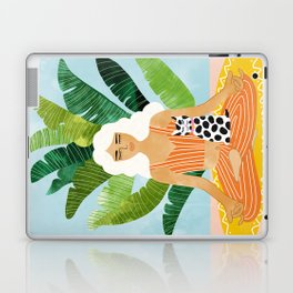 Meditation With Thy Cat #illustration #painting Laptop & iPad Skin