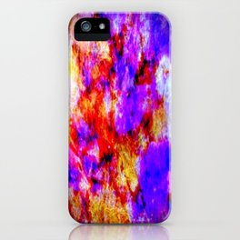 Purple Tie Die iPhone Case