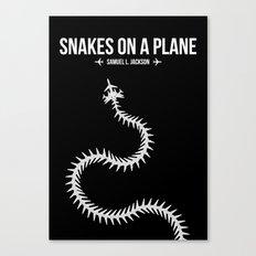 Snakes On A Plane Canvas Print