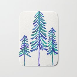 Pine Trees – Navy & Turquoise Palette Bath Mat