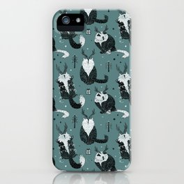 Crazy catlady - Christmas kitty cat madness iPhone Case