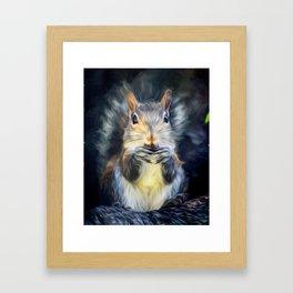 Cute Squirrel with Acorn Framed Art Print