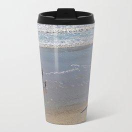 Family On The Beach Travel Mug