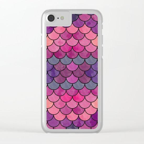 Watercolor Lovely Pattern VVXVIII Clear iPhone Case