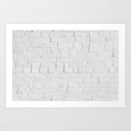 White Brick Wall - Photography Art Print