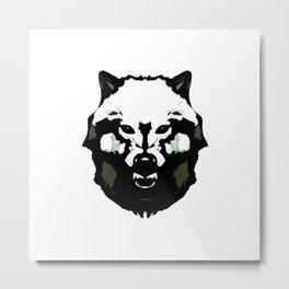 Face Wolf - Graphic Logo Metal Print
