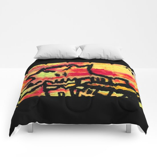 Ghost painting Comforters