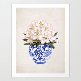 Chinoiserie Vase #01 Art Print