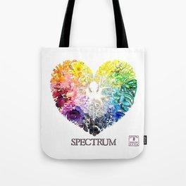 Spectrum Rainbow Heart Tote Bag