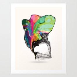 Winged Rainbow Art Print