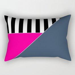 Asymmetrical patchwork 1 Rectangular Pillow