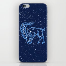 Capricorn Constellation and Zodiac Sign with Stars iPhone Skin