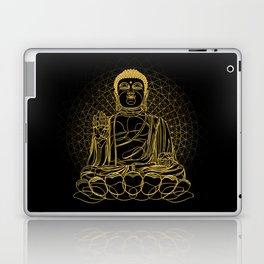 Golden Buddha on Black Laptop & iPad Skin