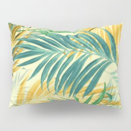 Palm Leaves in Yellow Pillow Sham