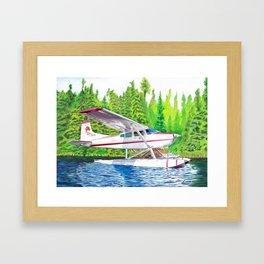 Bush Plane color pencil Framed Art Print