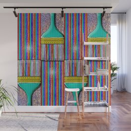 A Brush with Wet Paint Wall Mural