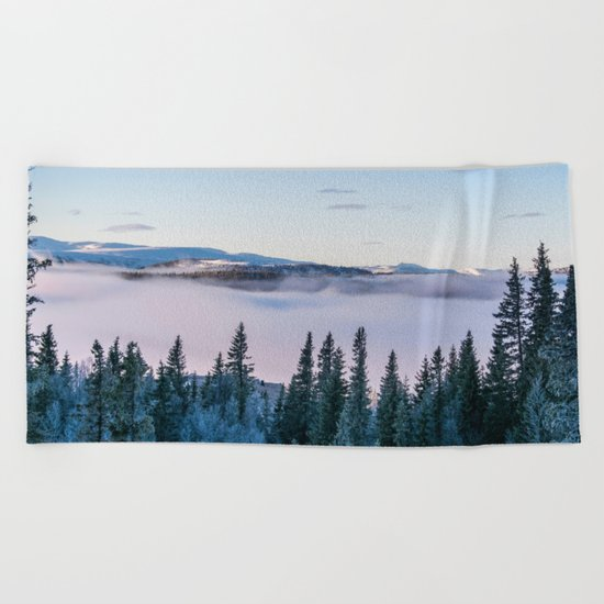 The forest in me Beach Towel