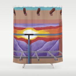 House of the Sun Cloud Shower Curtain