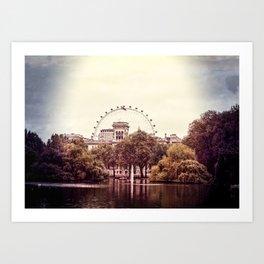 Whitehall & the London Eye from St James's Park Art Print