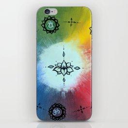 Seven Chakra Lotus Color Wheel iPhone Skin